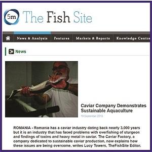 OLOOSON Prezenta Presa Internationala Sustainable Caviar